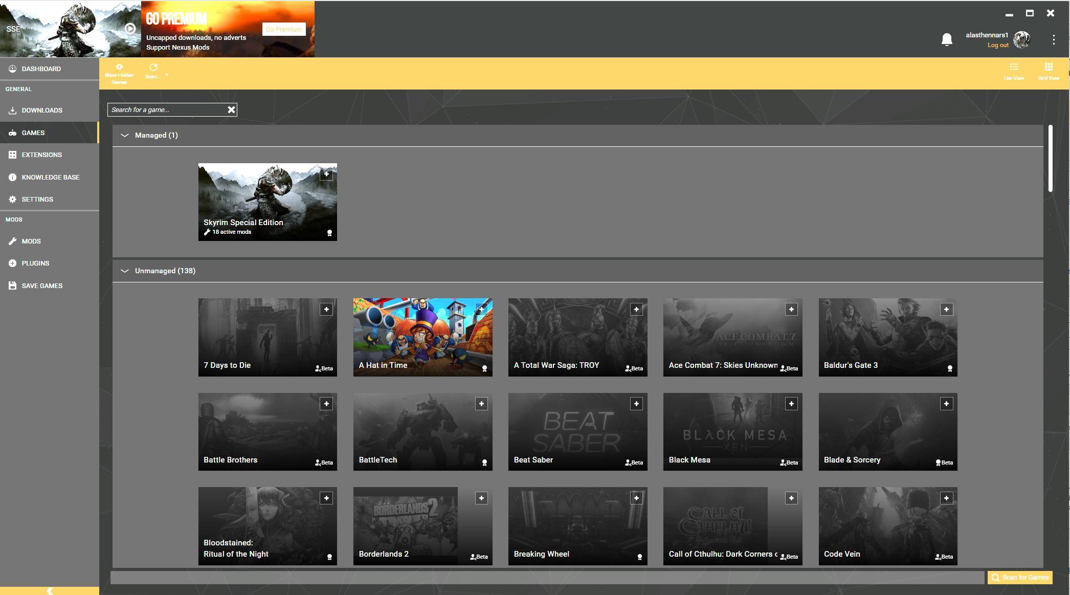 skyrim, vortex, manage games
